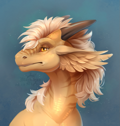 Size: 695x724 | Tagged: source needed, useless source url, safe, artist:blacksundi, western dragon, color:bronze, solo