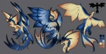 Size: 1280x650 | Tagged: source needed, useless source url, safe, artist:appletail, wyvern, color:blue, solo