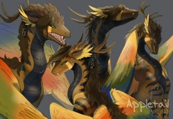 Size: 1280x879 | Tagged: source needed, useless source url, safe, artist:appletail, western dragon, color:golden, solo