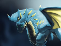 Size: 1280x959 | Tagged: source needed, useless source url, safe, artist:appletail, western dragon, color:blue