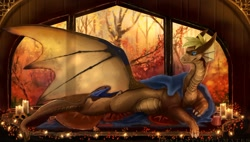 Size: 1280x725 | Tagged: source needed, useless source url, safe, artist:deviantsoulmates, western dragon, color:bronze, forest