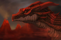 Size: 1280x853 | Tagged: source needed, useless source url, safe, artist:lokrial, western dragon, color:bronze, mountain, night, solo