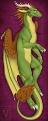 Size: 700x1750 | Tagged: source needed, useless source url, safe, artist:minerea, western dragon, color:green, male