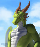 Size: 1000x1163 | Tagged: source needed, useless source url, safe, artist:deanosaior, western dragon, color:green