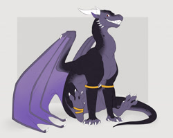 Size: 1280x1018 | Tagged: source needed, useless source url, safe, artist:raevocrei, western dragon, color:purple, male, multicolor:black, solo